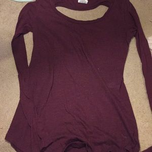 Victoria Secret Maroon long sleeve top